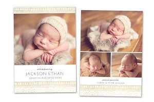 Birth Announcement Template CB109
