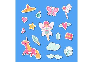Vector cute cartoon magic and