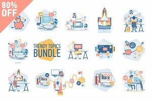 Trendy Topics Vector Bundle