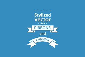 Simple vector ribbons