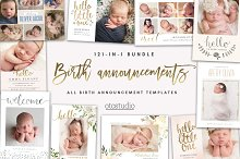 BUNDLE 121-in-1 Birth Announcements