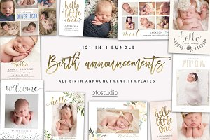 BUNDLE 121-in-1 Birth Announcements