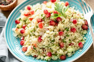 Tabbouleh salad with pomegranate