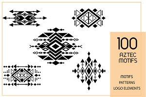 100Classy Minimal Aztec Prints|Logos