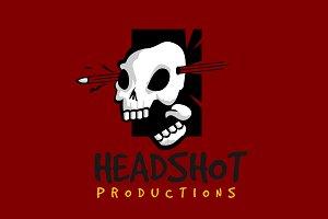 headshot skull logo template