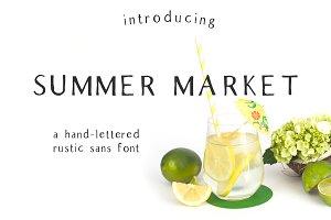Summer Market - Rustic Font