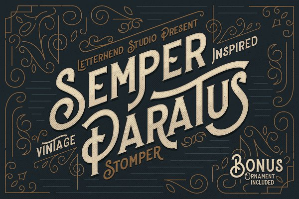 Display Fonts - Stomper - A Vintage Display Font