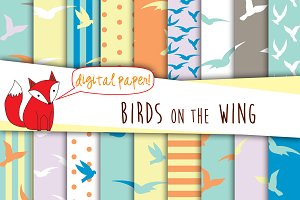 Birds Digital Paper Pack
