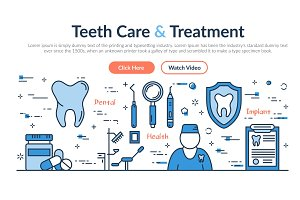 Web site header - Teeth Care and