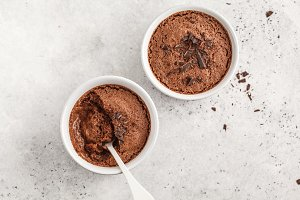 Chocolate vegan aquafaba mousse