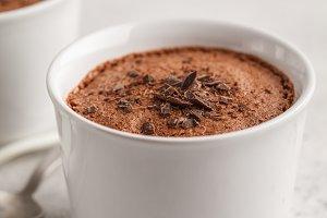 Chocolate vegan aquafaba mousse