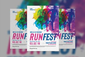 Color Run Festival Flyer
