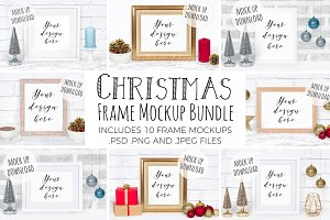 Frame Mockup Bundle - Christmas