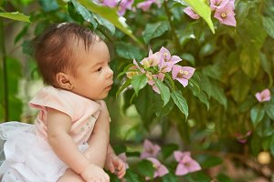 Small baby smell flower