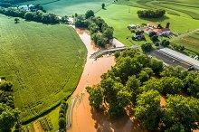 Creek Flooding - Drone Photo