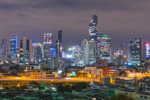 Bangkok city in night.