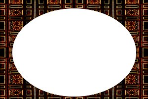 Blank Circle Landscape Frame With El