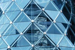 Architecture structure. Glass facade