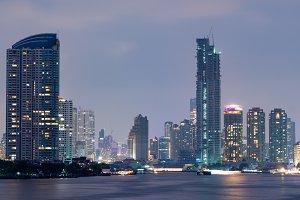 Building skyscraper in Bangkok city.