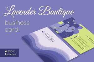 Lavender Boutique Business Cards 1+1