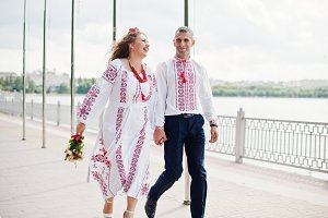 Fabulous wedding couple in tradition