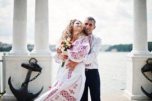 Fantastic wedding couple in ukrainia