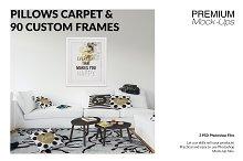 Throw Pillows Carpet & Frames Set