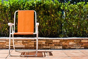 Summer chair on a terrace