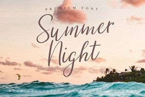 (INTRO SALE) Summer Night Font