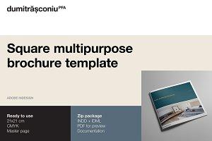 Square multipurpose brochure