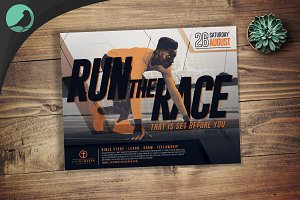 Run the Race Church Flyer Template