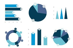 Infographic set. Vector design.