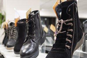 Women's shoes in a shop