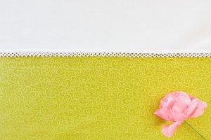Textile Background Pink Flower