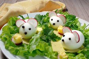 Children's egg snack
