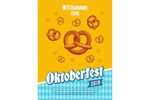 oktoberfest poster with pretzels
