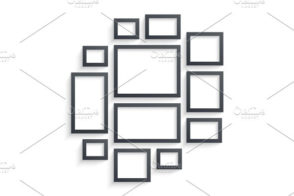 Wall picture frame templates ~ Illustrations ~ Creative Market