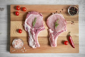 Pork loin steaks