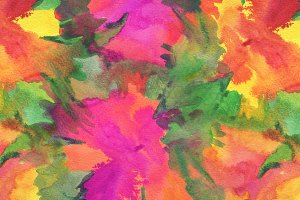 Watercolor flower painted background