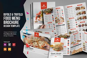 Food Menu Bifold-Trifold Brochure v2