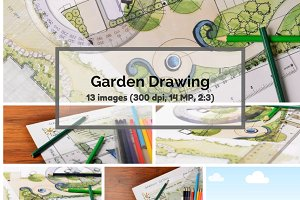 Garden drawings bundle