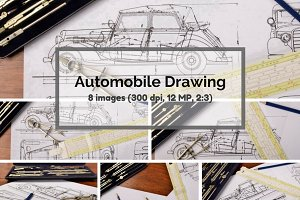 Automobile drawing bundle