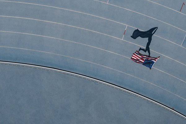Sports Stock Photos: Jacob Lund - Athlete running on the track