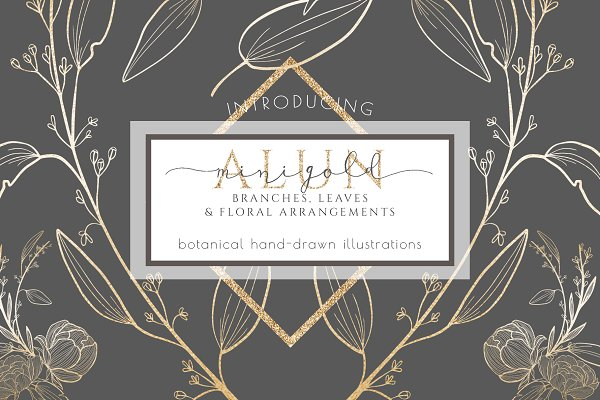 Botanical leaves branches graphic