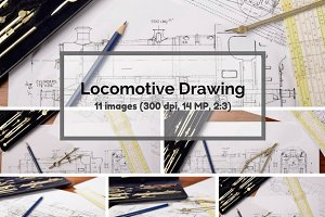 Locomotive design drawing bundle