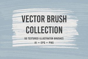 55 Vector Brushes Collection