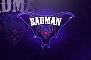 Badman Sports - Mascot & Esport Logo
