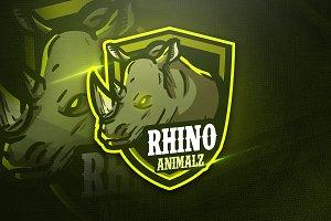 Rhino Animalz - Mascot & Esport Logo