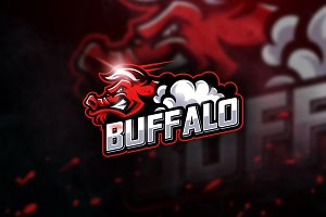 Buffalo - Mascot & Esport Logo