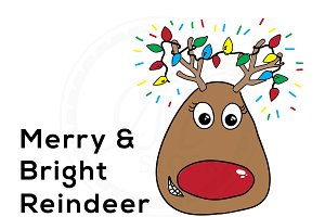 Merry & Bright Reindeer Illustration